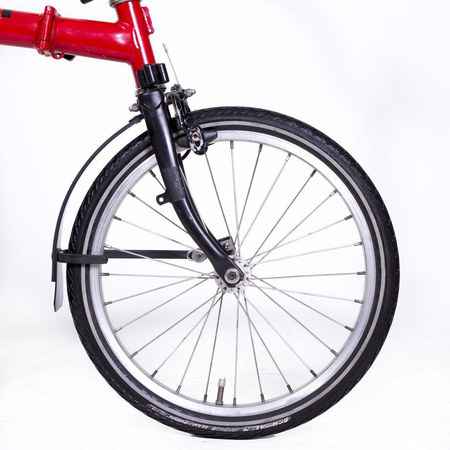 Brompton Folding Bike with Rain-bow Fenders