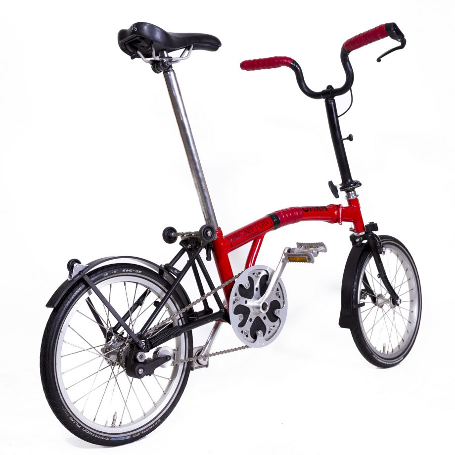 Brompton folding Bicycle with Rain-bow Fenders